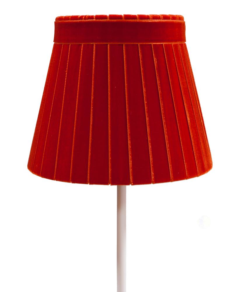 Crawford velvet lamp shade in blood orange ribbon lamp shades crawford velvet lamp shade in blood orange aloadofball Images