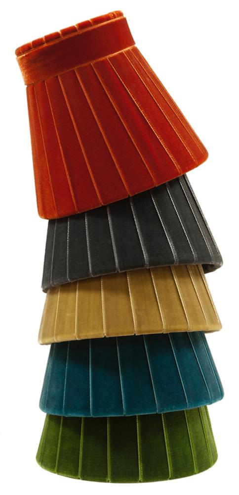 Crawford Velvet lamp shade - stack
