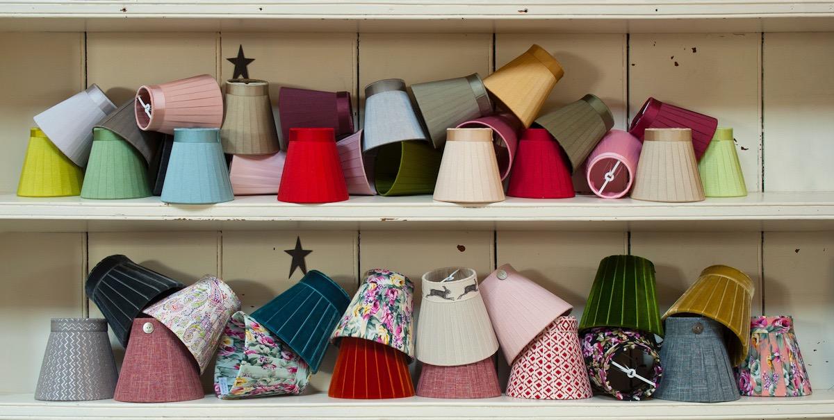 Ribbon lamp shades and lamp bases handmade by bay design shop aloadofball Choice Image