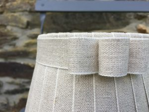 Francoise Broad Ribbon cream edged Linen Lampshade . www.bay-design.co.uk