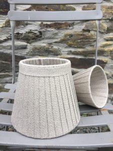 "Florence woven Linen 7.5"" & 5"". www.bay-design.co.uk"