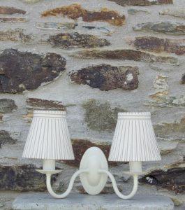 www.bay-design.co.uk double ivory wall light plain metalware.