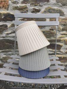 Barrington Herringbone Lampshades colours. www.bay-design.co.uk