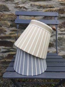 Hamilton broad strip ribbon lampshades. www.bay-design.co.uk