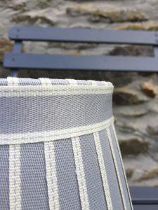 Hamilton Broad edged ivory ribbon lampshade www.bay-design.co.uk