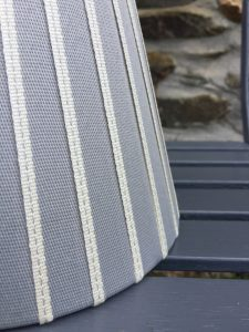 Hamilton braid stripe ivory edged ribbon lampshades www.bay-design.co.uk