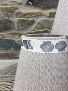 Mansfield Lampshade Linen Shell. Mansfield Lampshade Collection. www.bay-design.co.uk