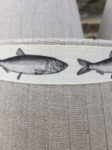 Mansfield Lampshade Linen Fish. Mansfield Lampshade Collection. www.bay-design.co.uk