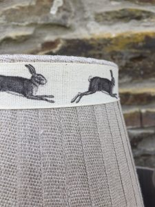Mansfield Lampshade Linen Hare. Mansfield Lampshade Collection. www.bay-design.co.uk