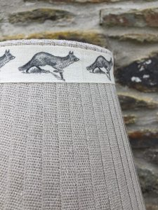 Mansfield Lampshade Linen Fox. Mansfield Lampshade Collection. www.bay-design.co.uk