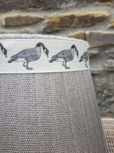 Mansfield Lampshade Linen Goose. Mansfield Lampshade Collection. www.bay-design.co.uk