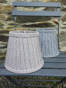 Celeste small petals white beige grey lampshades. www.bay-design.co.uk