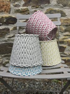 Giselle assorted ikat colours lampshades. www.bay-design.co.uk