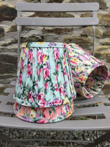 Genevieve floral bold pattern ribbon lampshade. www.bay-design.co.uk