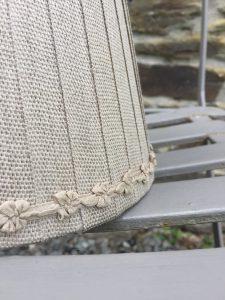 Juliette mini bow braid Linen Lampshade Olivenite