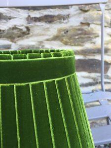 Crawford Velvet Forest Green Lampshade. www.bay-design.co.uk