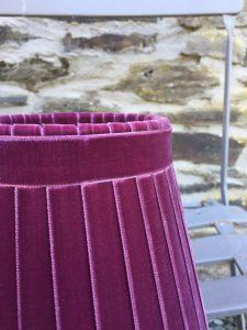 Crawford Velvet Plum Wine Ribbon Lampshade. www.bay-design.co.uk