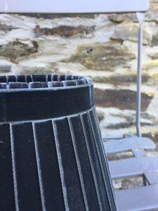 Crawford Velvet Black Smoke Ribbon Lampshade. www.bay-design.co.uk