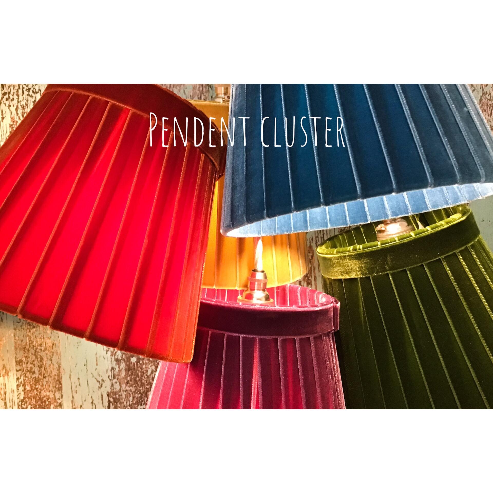 Pendent cluster velvet Lampshades