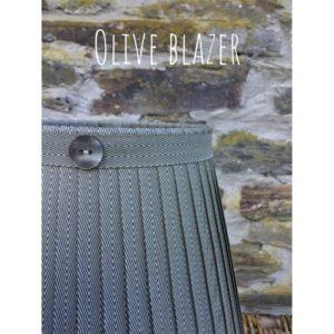 Olive blazer herringbone ribbon lampshade